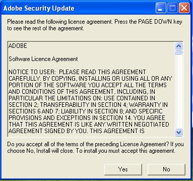 Fake adobe license
