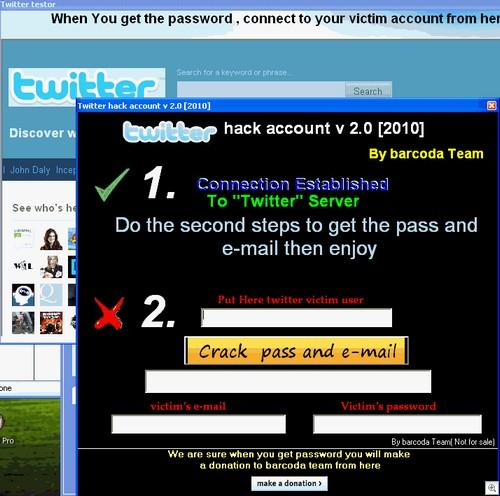 fake twitter hack