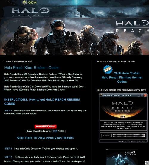 Fake Halo site