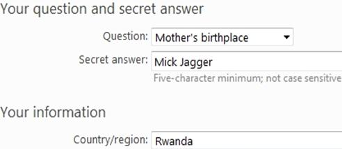 fake answers