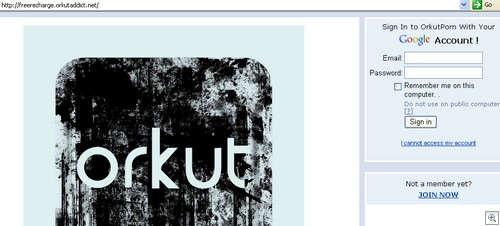 orkut login, honest