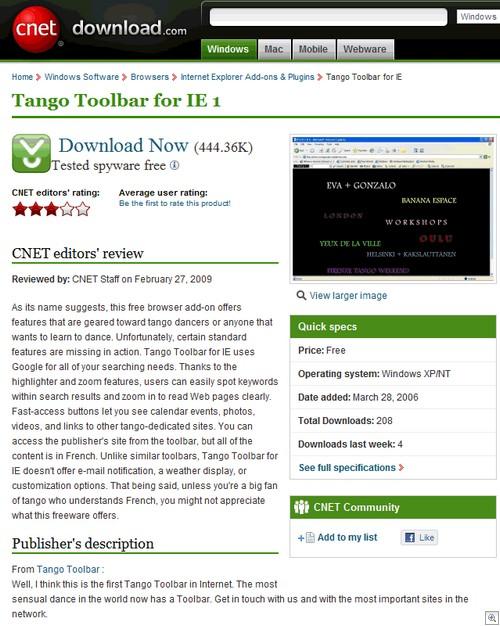 Tango toolbar