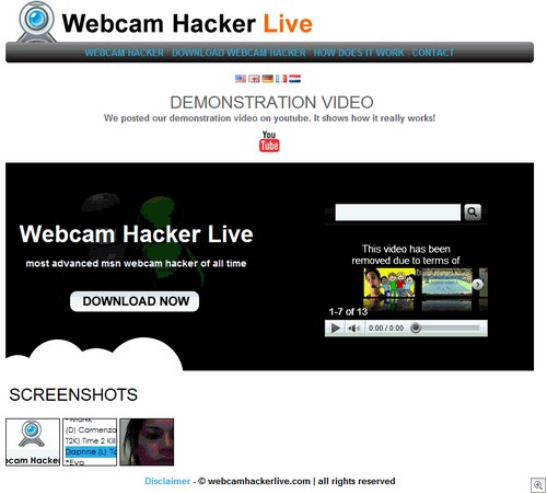 webcam hack website