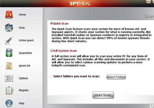 Spyhealinterface